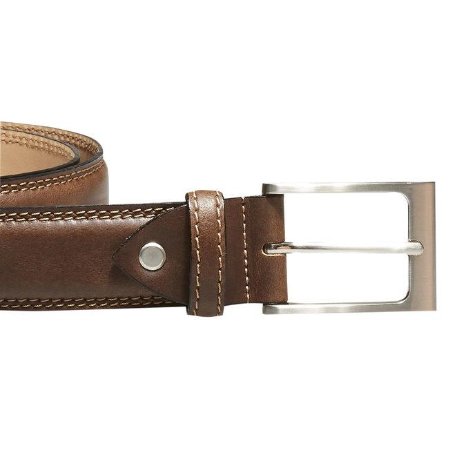 Klasický kožený opasok bata, hnedá, 954-3828 - 26