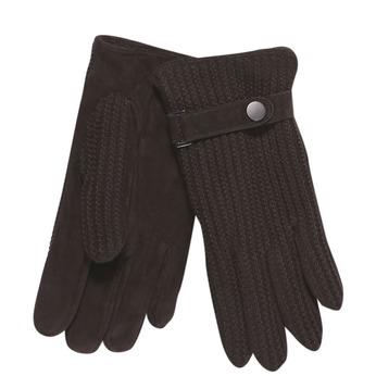 Pánske rukavice s pleteninou bata, hnedá, 909-4295 - 13