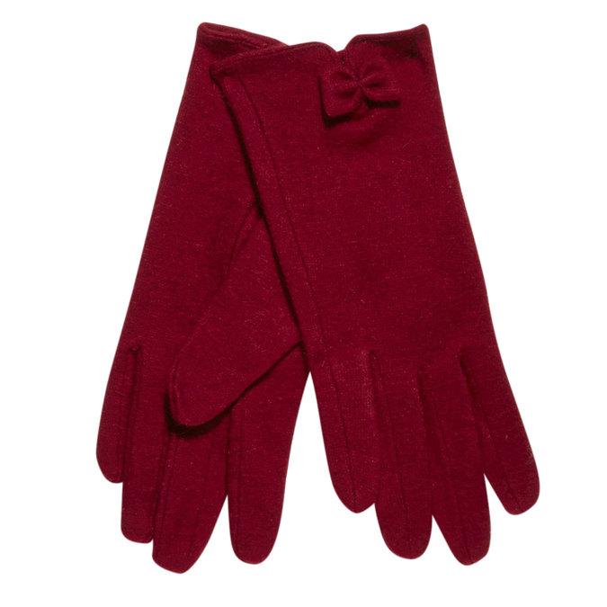 Dámske rukavice s mašličkou bata, červená, 909-5404 - 13