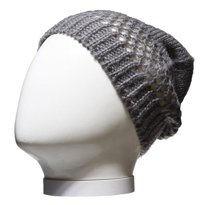 Pletená čiapka bata, šedá, 909-2372 - 13