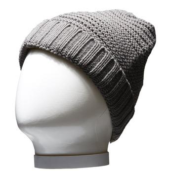 Pletená čiapka bata, šedá, 909-2391 - 13