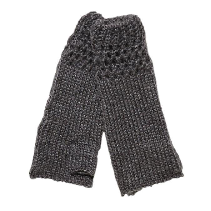 Pletené rukavice bez prstov bata, šedá, 909-2380 - 13