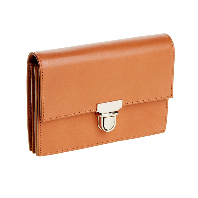 Kožená peňaženka s prackou vagabond, hnedá, 944-4119 - 13