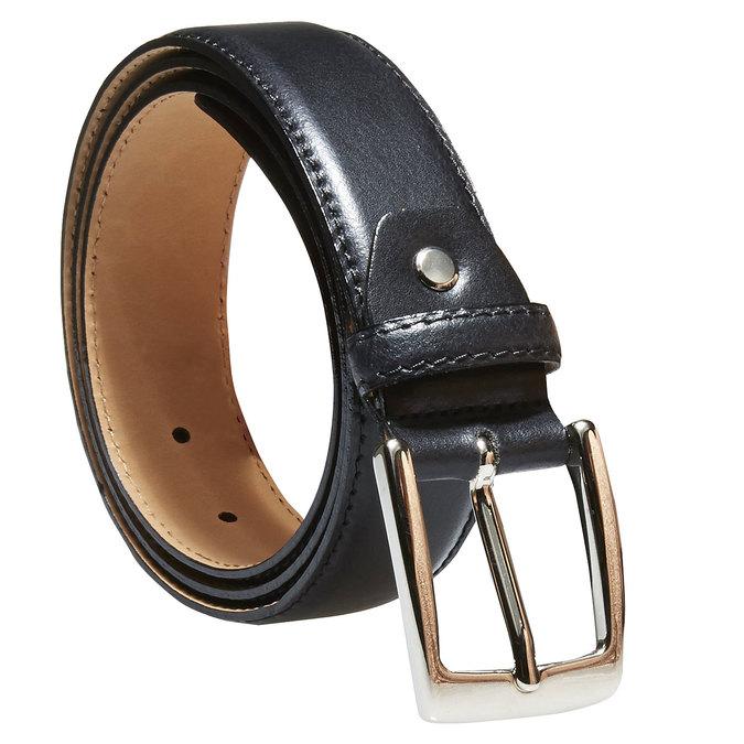 Pánsky kožený opasok bata, čierna, 954-6170 - 13