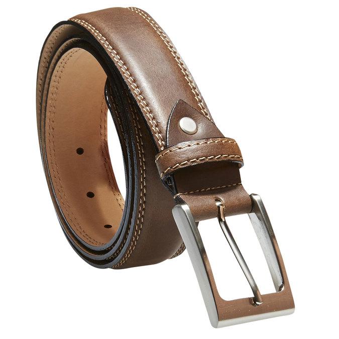 Klasický kožený opasok bata, hnedá, 954-3828 - 13