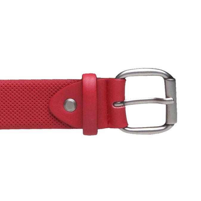 Kožený opasok s perforáciou bata, červená, 954-5154 - 26
