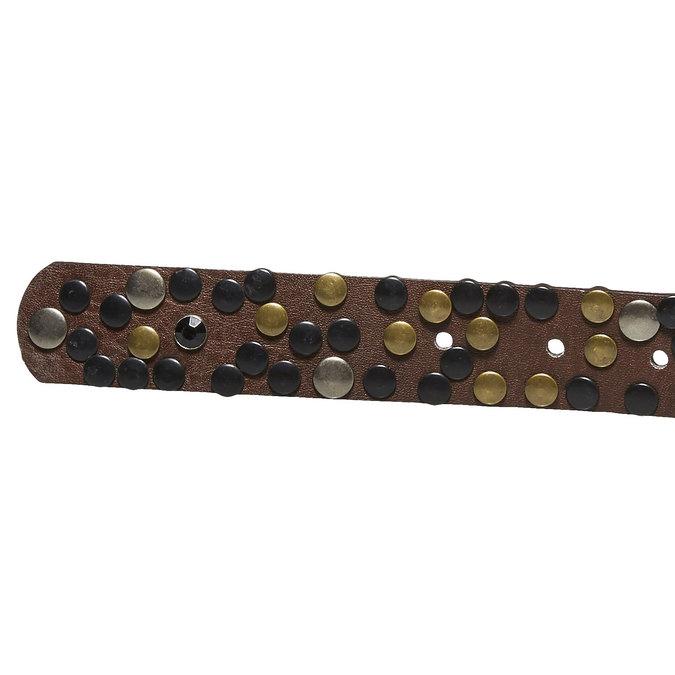 Dámsky opasok s aplikáciou bata, hnedá, 951-4120 - 16