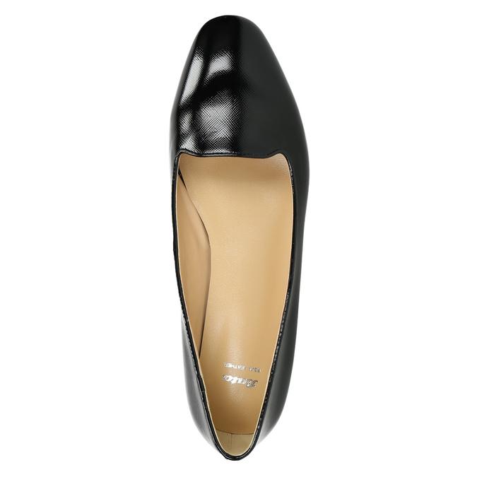 Dámske kožené baleríny bata, čierna, 528-6630 - 26