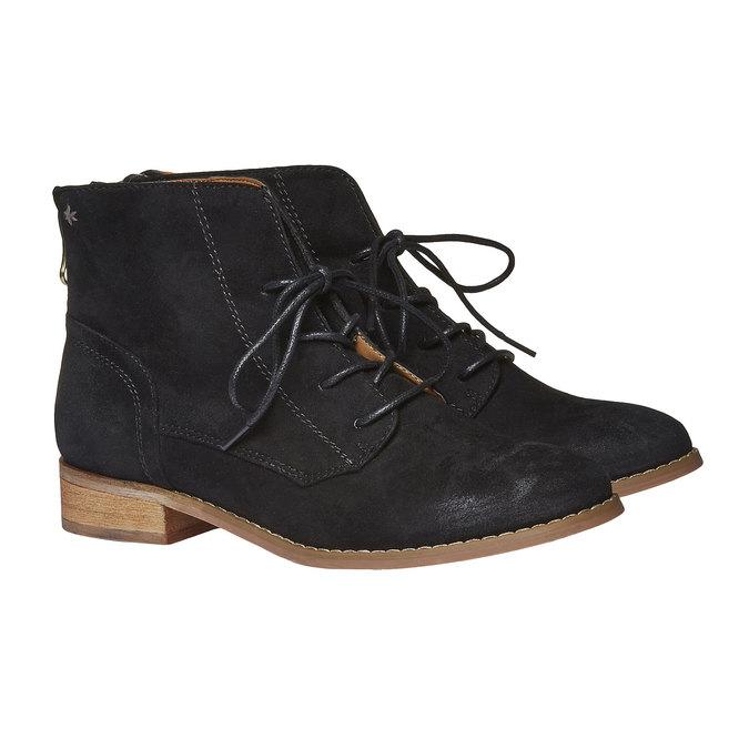 Členkové topánky so zipsom bata, čierna, 599-6493 - 26