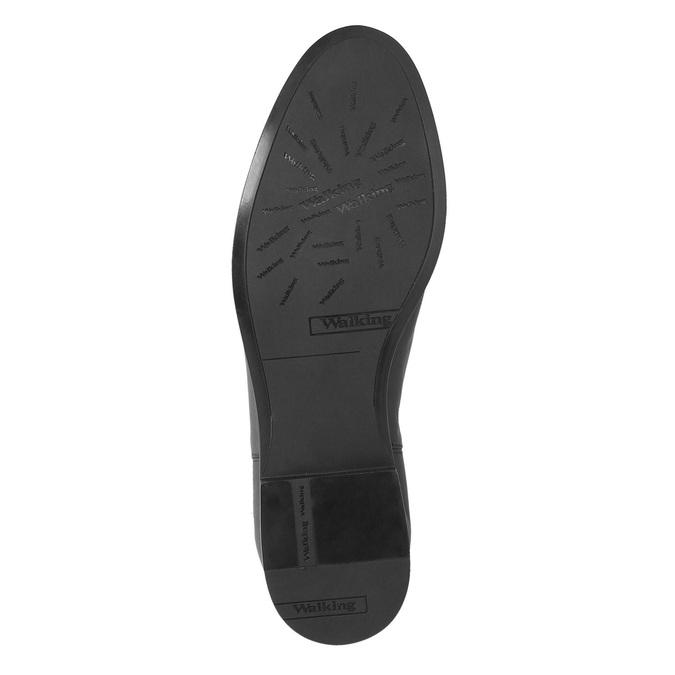 Kožená členková obuv s prackou bata, čierna, 594-6602 - 26