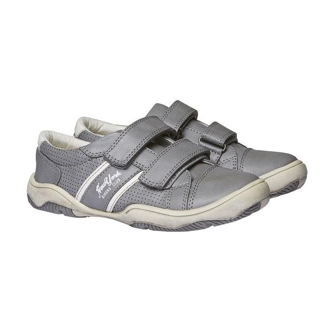 Detské tenisky na suchý zips mini-b, šedá, 311-2214 - 26