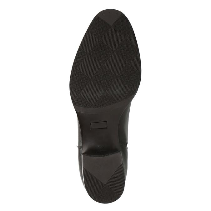 Kožené členkové topánky s pružnými bokmi bata, hnedá, 596-4623 - 26