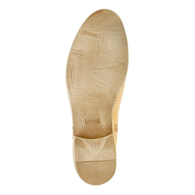 Členkové čižmy z brúsenej kože bata, béžová, 593-8402 - 26