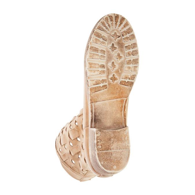 Kožené členkové čižmy bata, hnedá, 596-3612 - 26