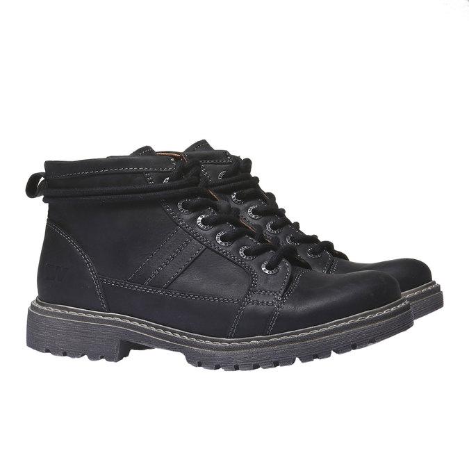 Kožená obuv s originálnymi šnúrkami weinbrenner, čierna, 594-6409 - 26