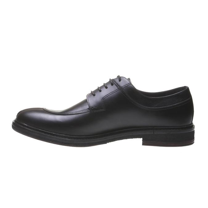 Pánske kožené poltopánky bata, čierna, 824-6709 - 15