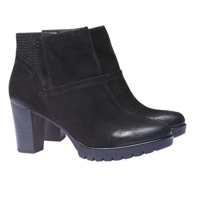 Kožená členková obuv bata, čierna, 796-6122 - 26