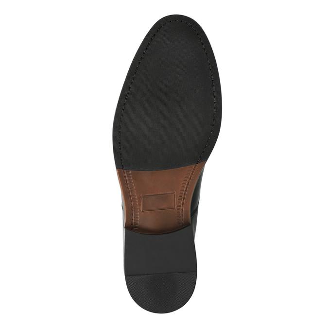 Kožené poltopánky s guľatou špičkou bata, čierna, 824-6657 - 26