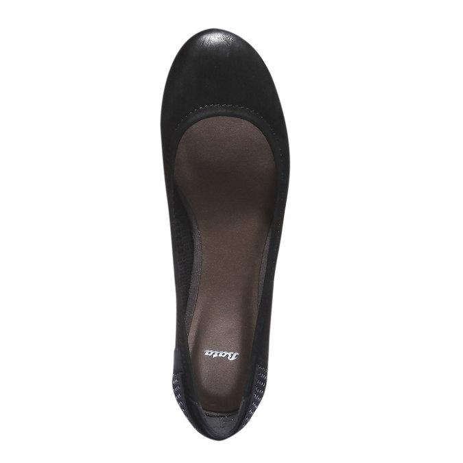 Kožené baleríny bata, čierna, 526-6101 - 19