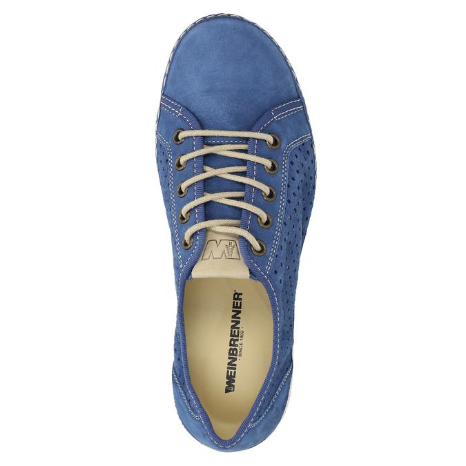 Kožené tenisky weinbrenner, modrá, 546-9238 - 19