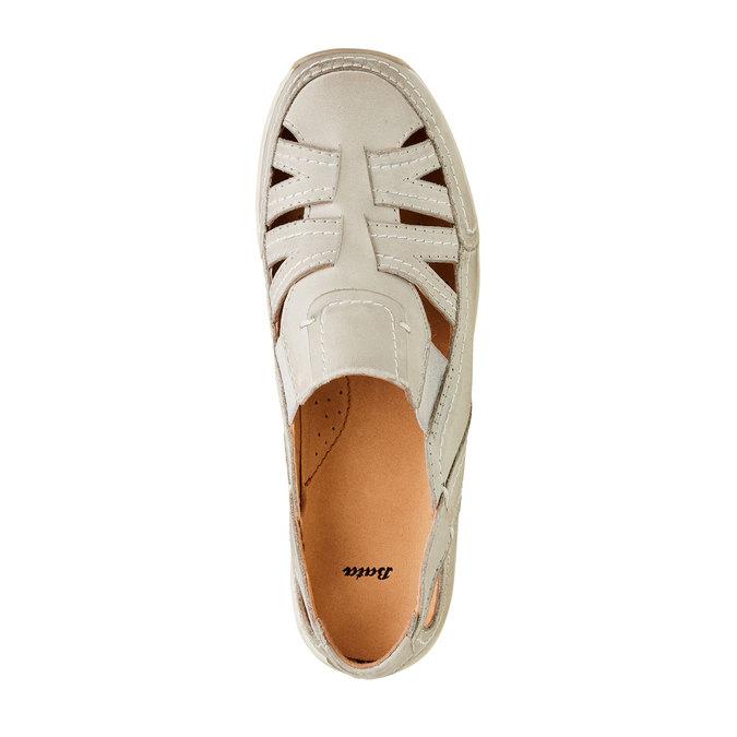 Neformálne kožené poltopánky bata, béžová, 524-3116 - 19