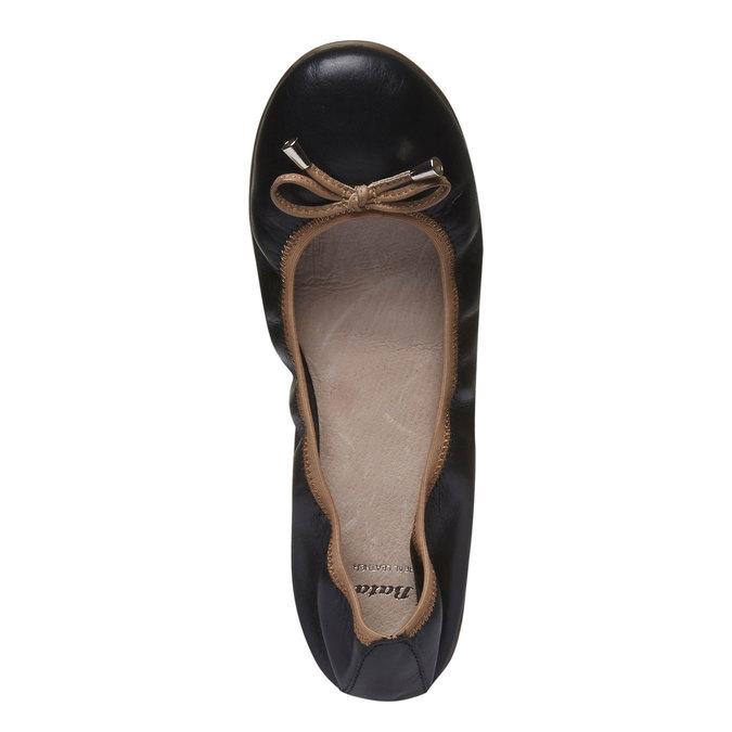 Čierne kožené baleríny bata, čierna, 524-6485 - 19