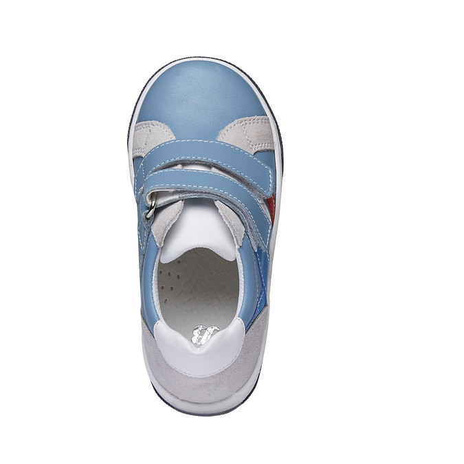 Detské kožené tenisky na suchý zips mini-b, modrá, 214-9153 - 19