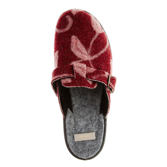 Domáca obuv bata, červená, 579-5221 - 19