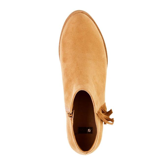 Členkové čižmy s trblietkami bata, hnedá, 599-3102 - 19