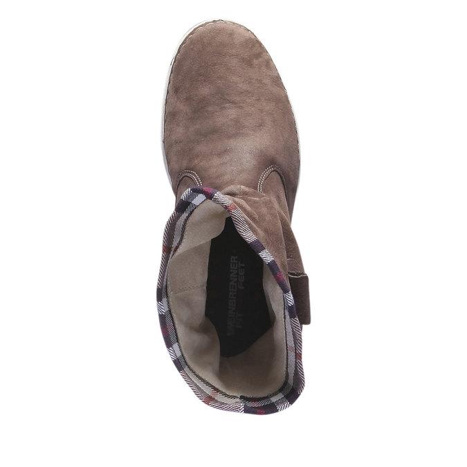 Kožená obuv s farebným lemom weinbrenner, hnedá, 596-4311 - 19