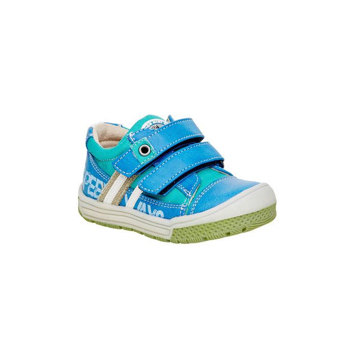Detské topánky na suchý zips mini-b, modrá, 111-9104 - 13