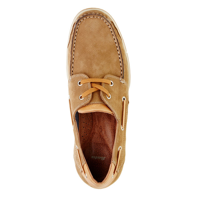 Ležérne kožené mokasíny bata, hnedá, 856-3176 - 19