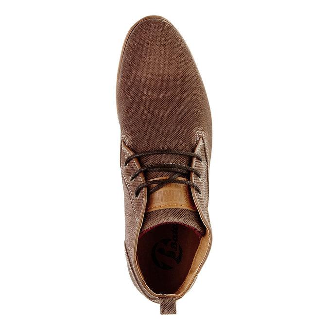 Kožené členkové poltopánky bata, hnedá, 826-3101 - 19