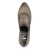 Kožené poltopánky na podpätku bata, hnedá, 796-2603 - 19