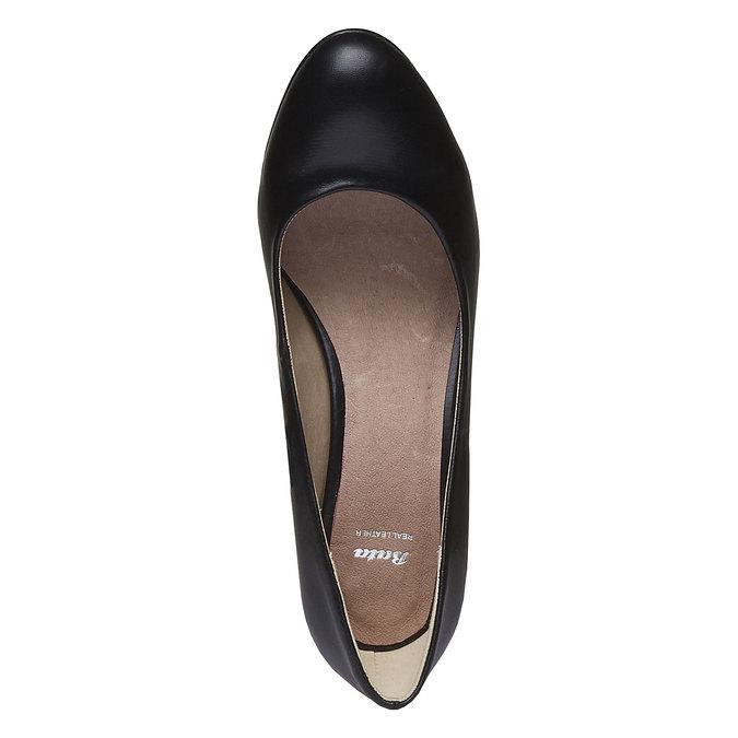 Lodičky s guľatou špičkou bata, čierna, 621-6387 - 19