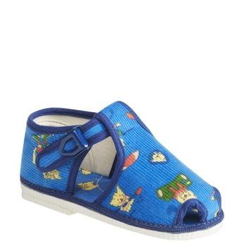 Detská domáca obuv k členkom bata, modrá, 179-9210 - 13