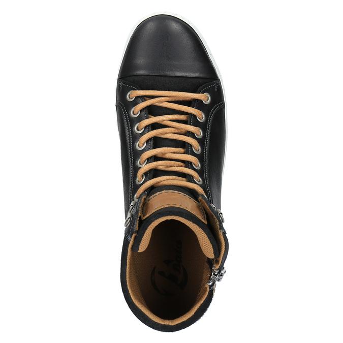 Pánske členkové tenisky bata, čierna, 844-6625 - 19
