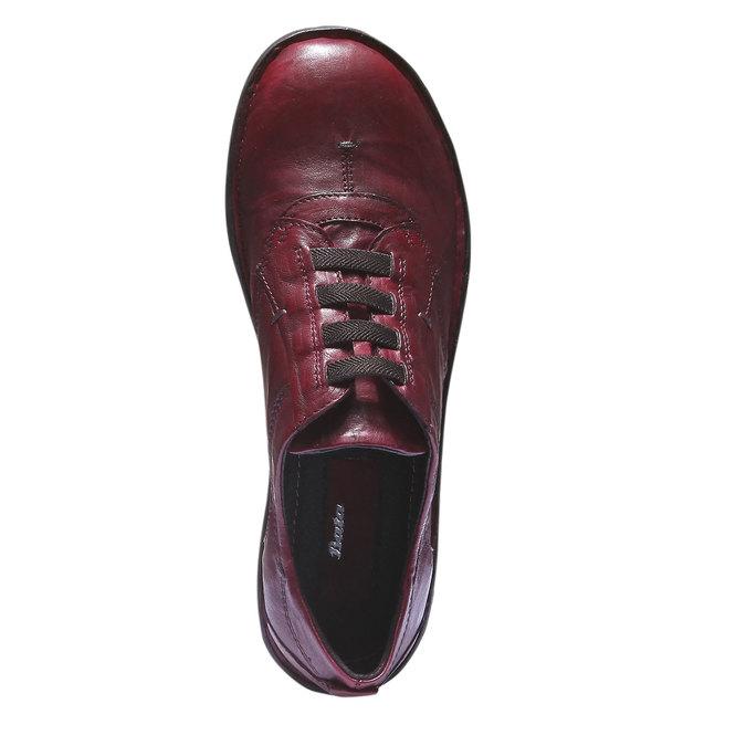 Dámska kožená obuv bata, červená, 624-5111 - 19