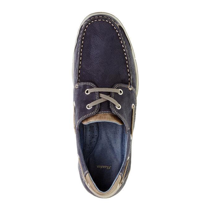 Ležérne kožené mokasíny bata, modrá, 856-9176 - 19