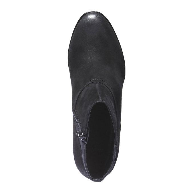 Kožená členková obuv bata, čierna, 796-6122 - 19