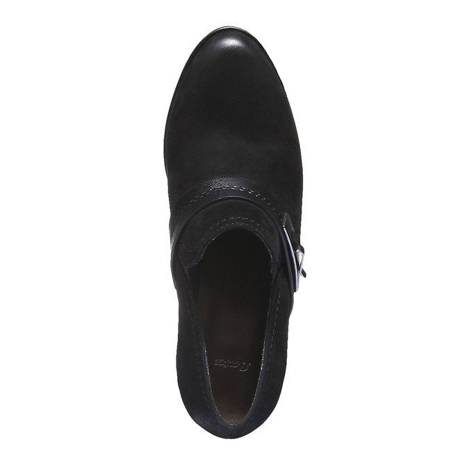 Kožené členkové čižmy s remienkom bata, čierna, 696-6102 - 19