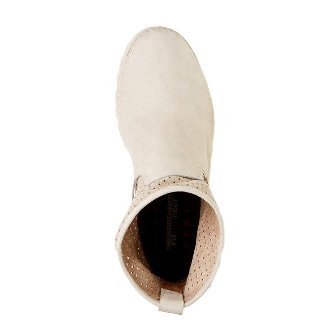 Kožené členkové topánky weinbrenner, biela, 596-1121 - 19