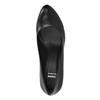 Kožené lodičky na vysokom podpätku bata, čierna, 624-6105 - 19