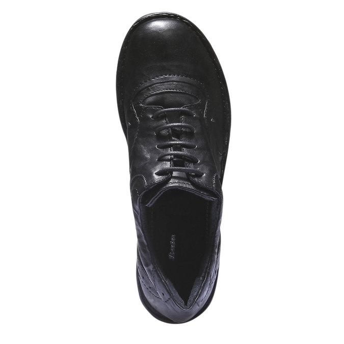 Ležérne kožené tenisky bata, čierna, 624-6111 - 19
