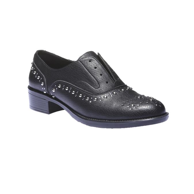 Dámské Slip-on s kovovými cvočkami bata, čierna, 511-6161 - 13