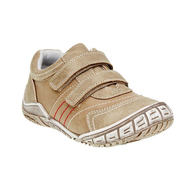 Detské ležérne tenisky na suchý zips mini-b, hnedá, 311-3212 - 13