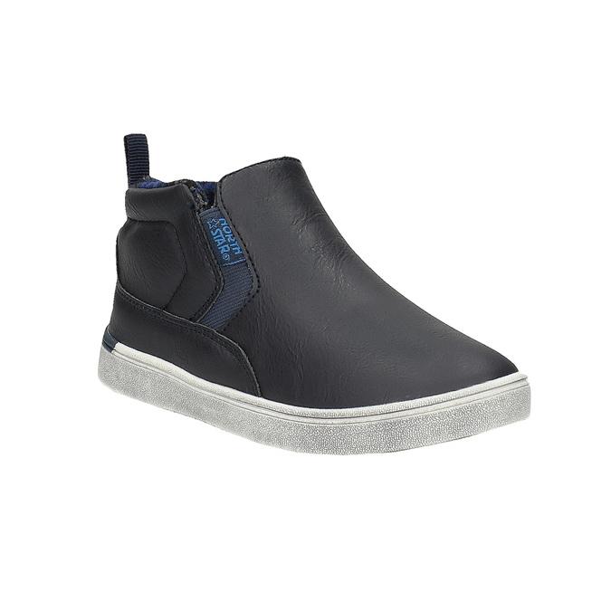Detská členková obuv typu Slip-on north-star, modrá, 411-9603 - 13