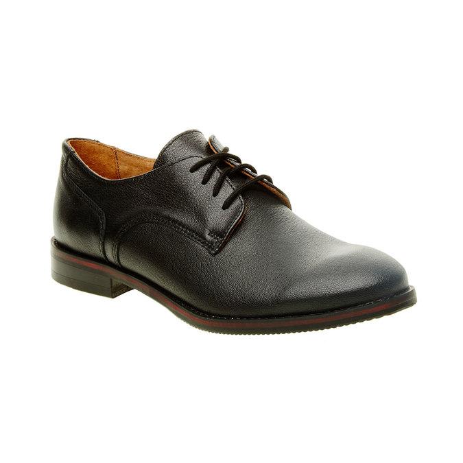 Dámske kožené poltopánky bata, čierna, 524-6117 - 13