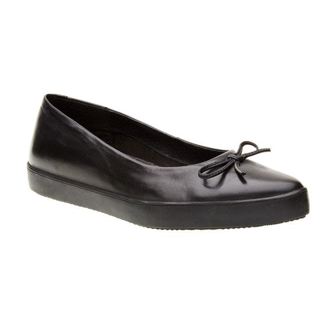 Kožené baleríny bata, čierna, 524-6464 - 13