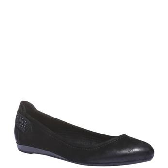 Kožené baleríny bata, čierna, 526-6101 - 13